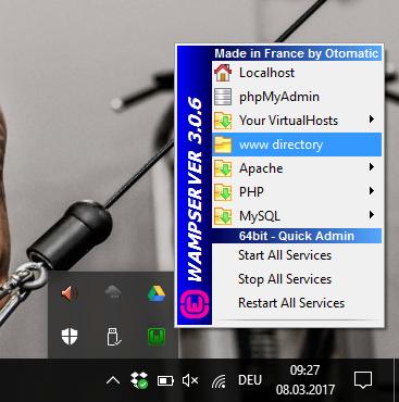 WordPress offline mit WampServer 8
