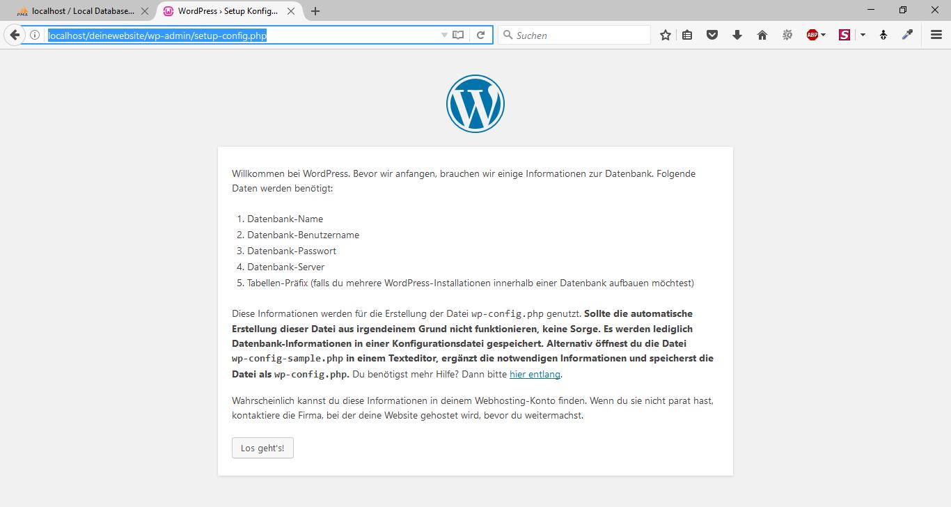 WordPress offline mit WampServer 11
