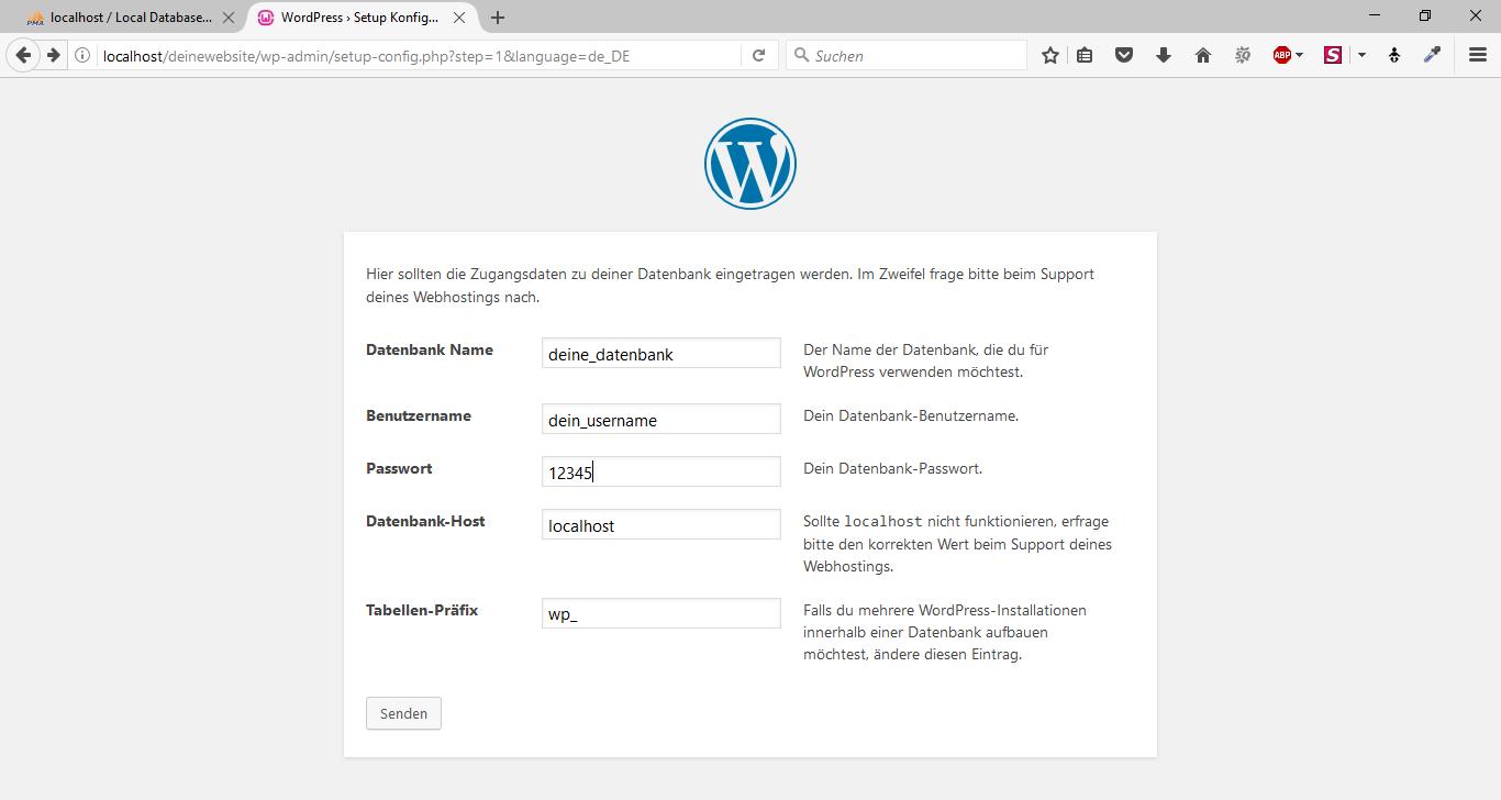 WordPress offline mit WampServer 12