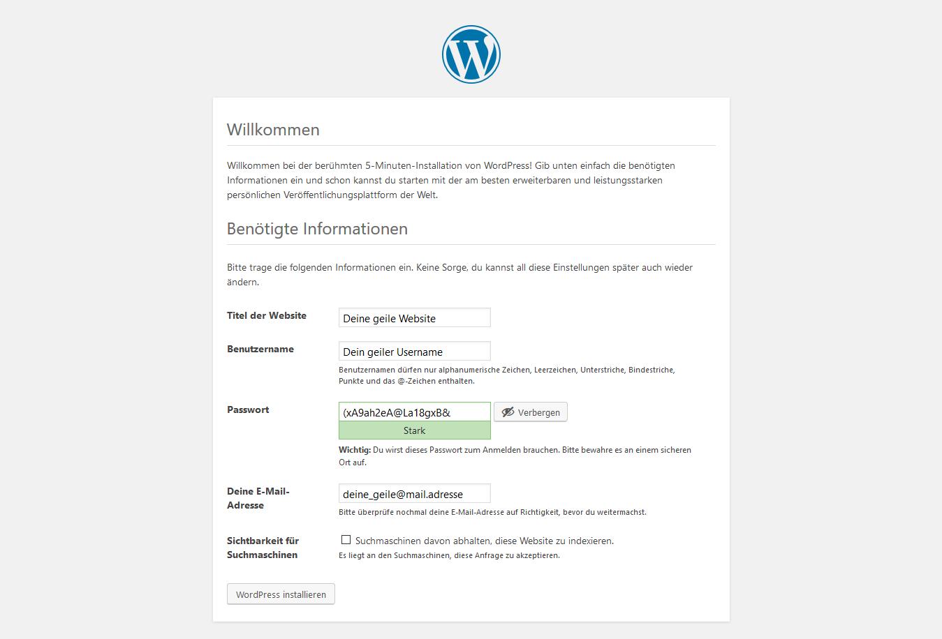 WordPress offline mit WampServer 14