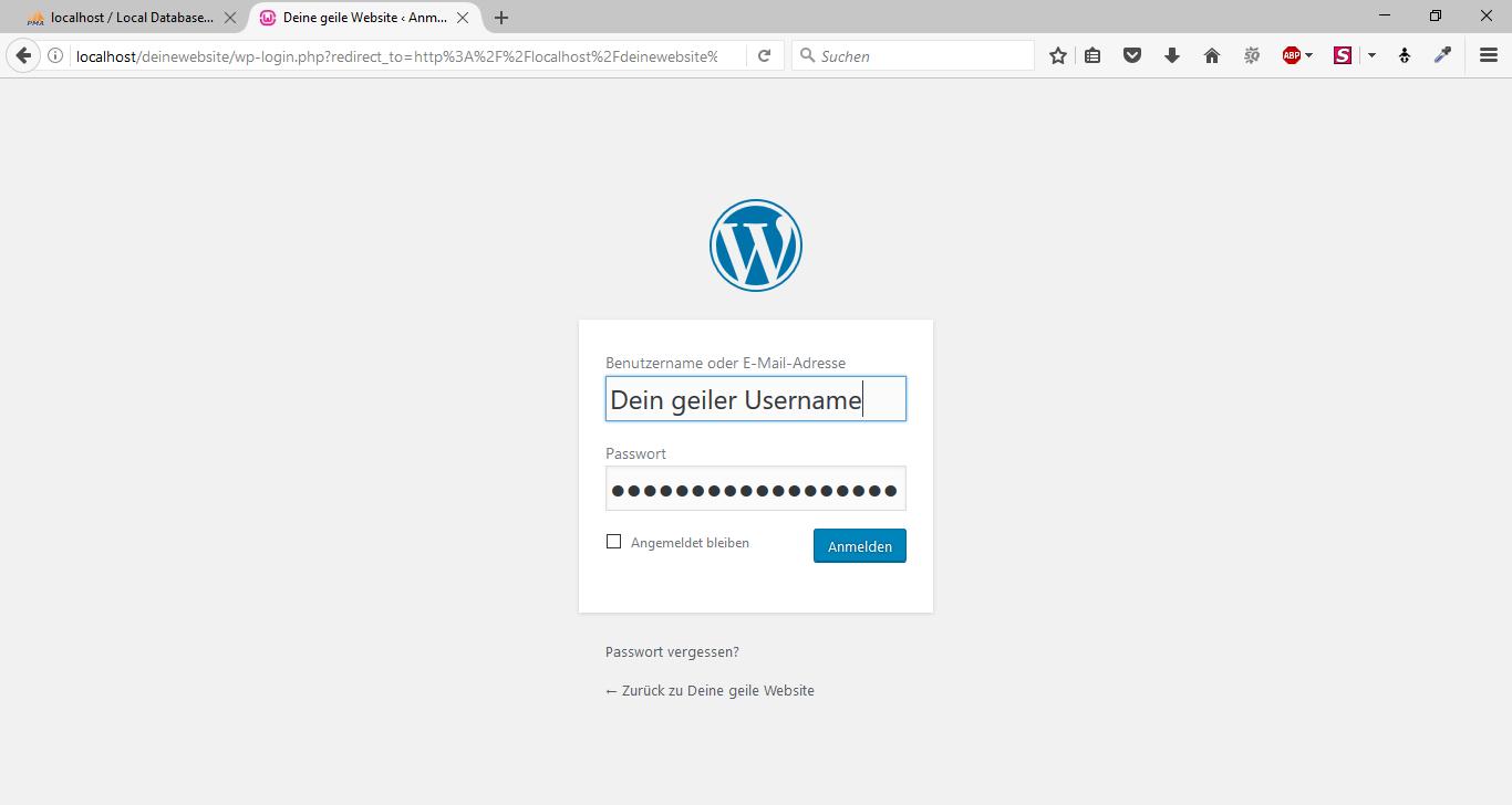 WordPress offline mit WampServer 15
