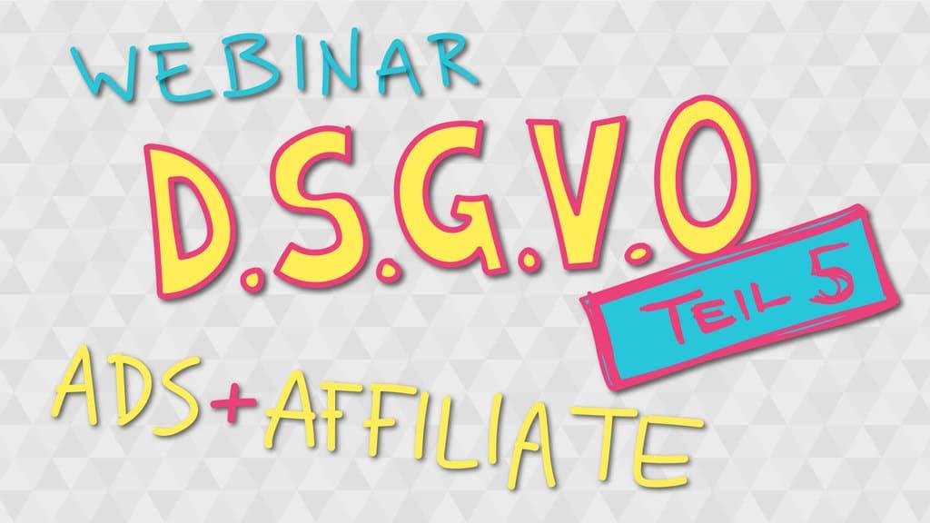 affiliate marketing und die dsgvo