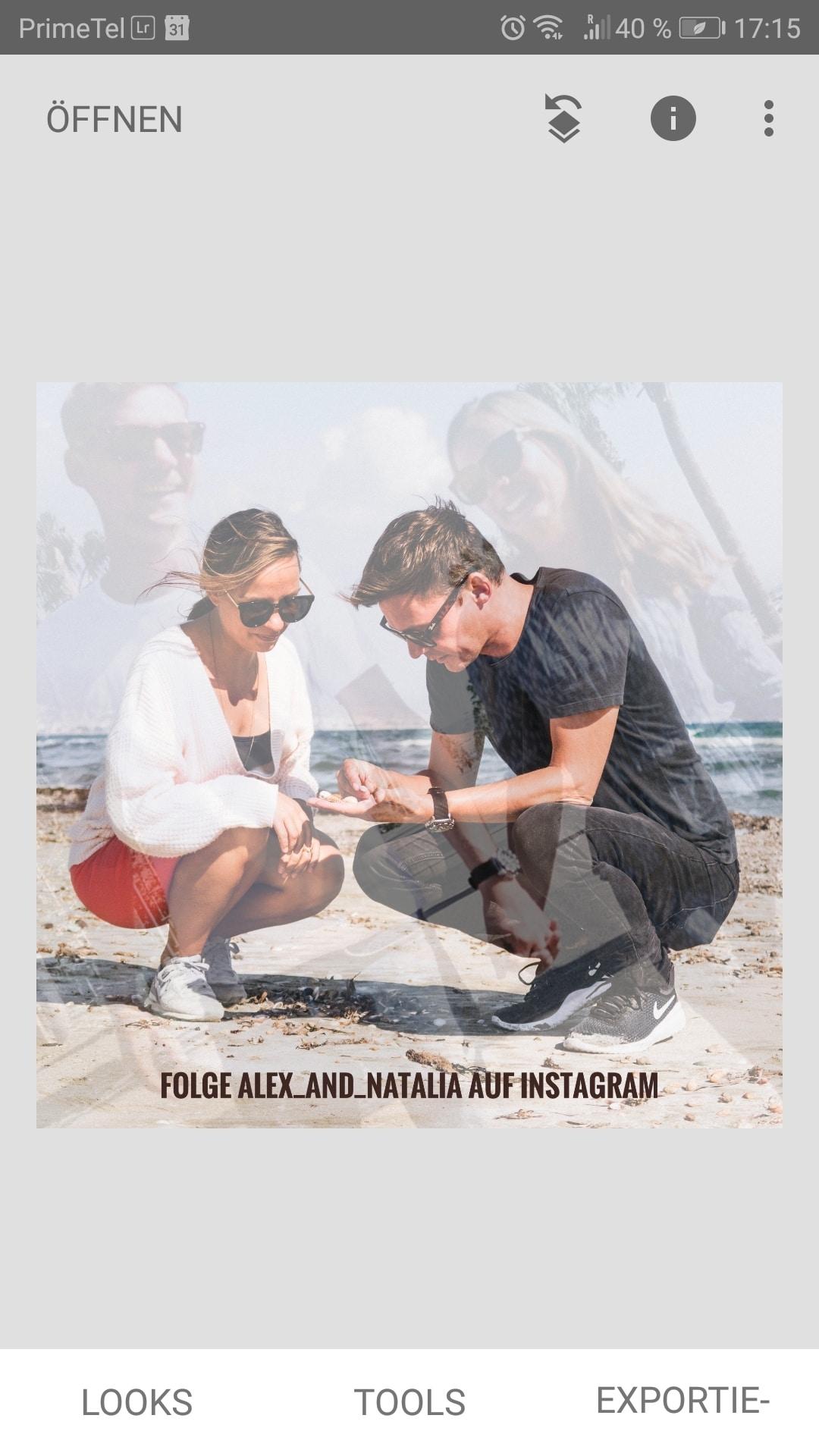 Perfekte Instagram Bilder bearbeiten. 1