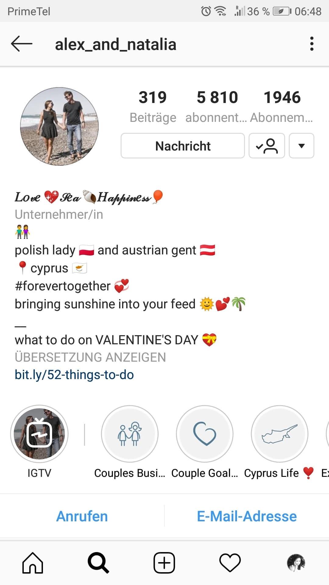 Schreibe eine Instagram Bio, die dir Follower bringt. 1