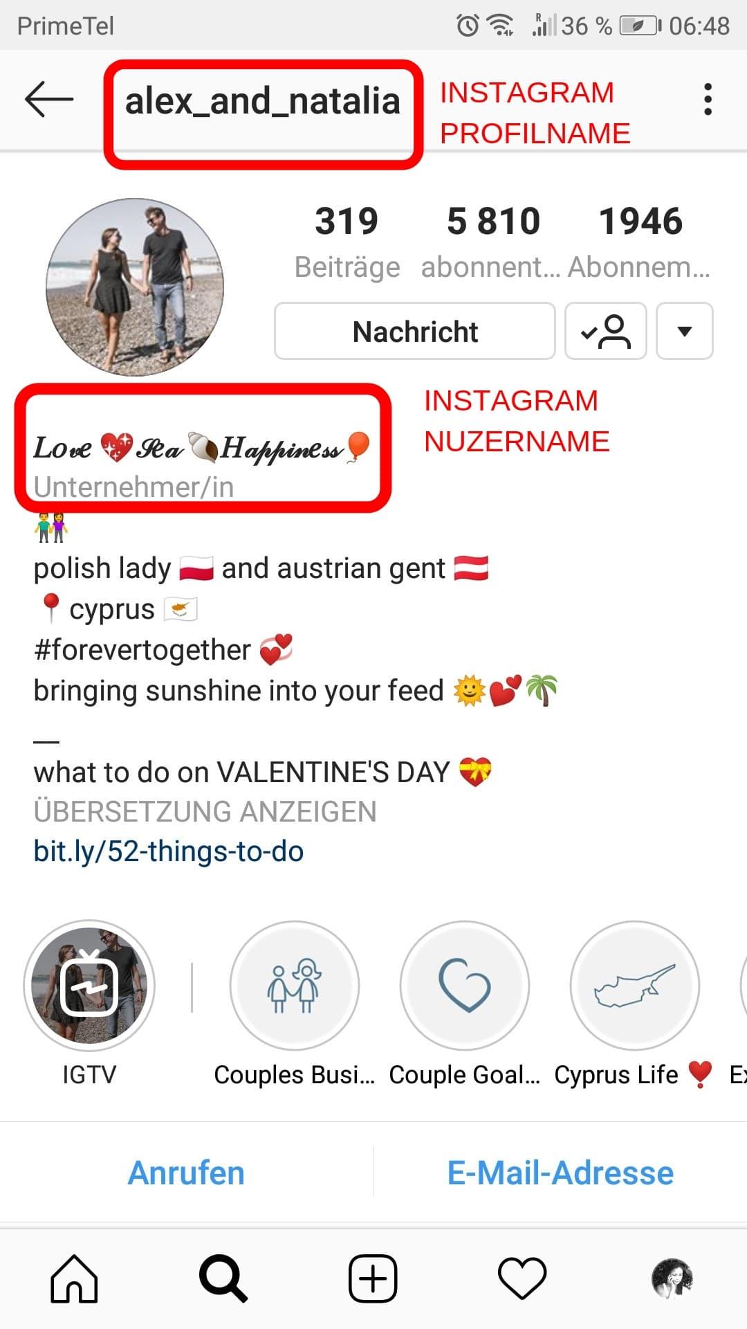 Schreibe eine Instagram Bio, die dir Follower bringt. 2