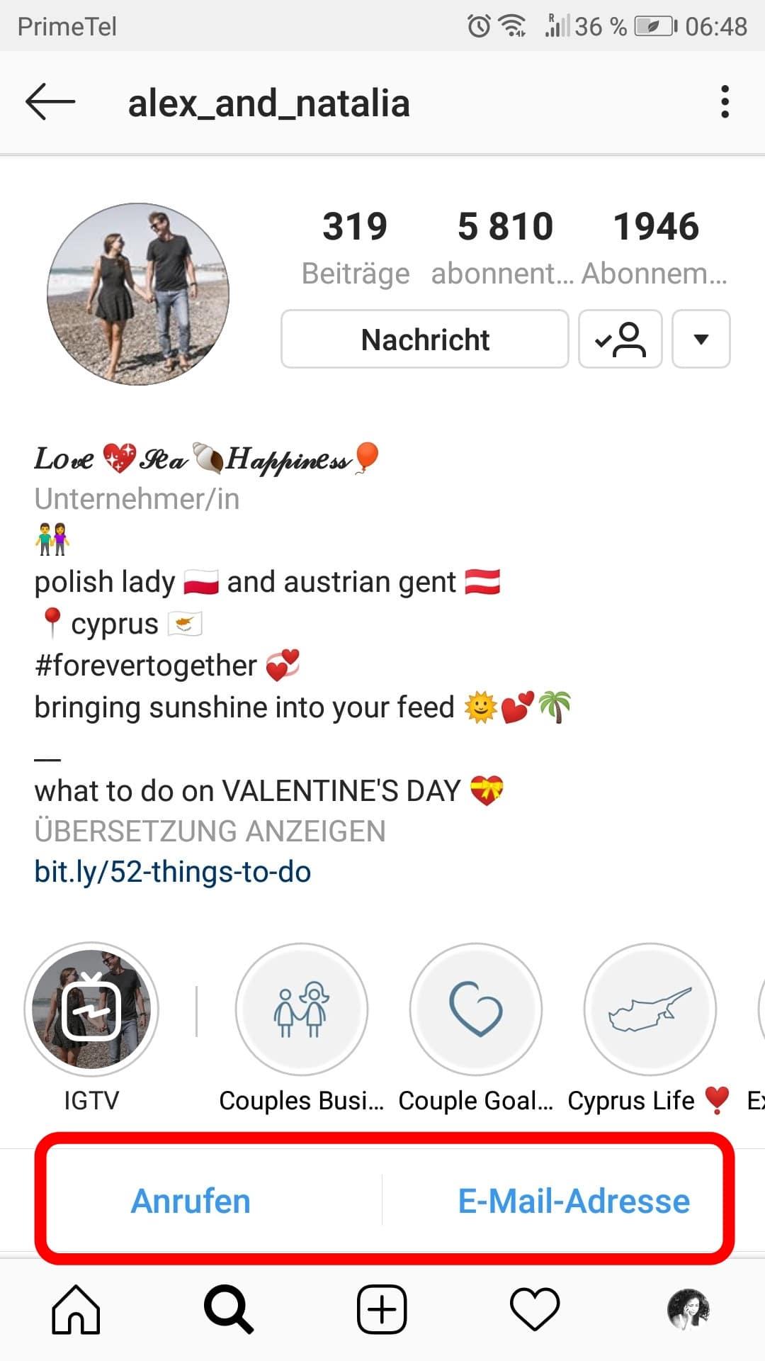 Schreibe eine Instagram Bio, die dir Follower bringt. 5
